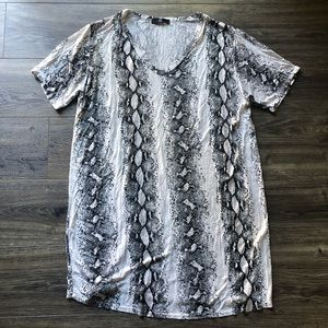 Missguided Snakeskin Comfy Casual Dress